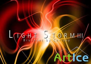 Кисти для Photoshop - Light Storm III