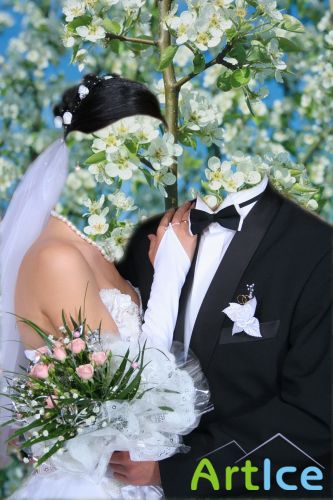 Шаблон жених и невеста