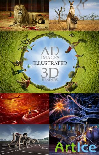 40 Ilustrated AD Images - 3D Renders 40 RGB JPEG Images