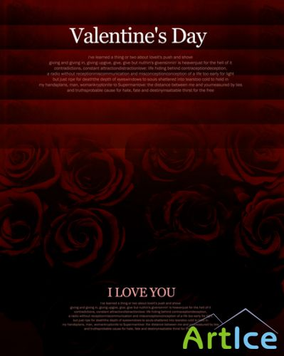 Valentine's day - PSD Template