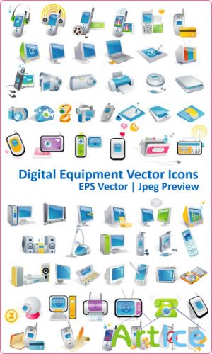 Digital Equipment Vector Icons