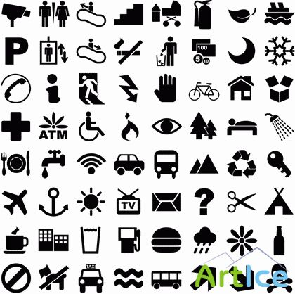 Huge Pictogram Vector Set