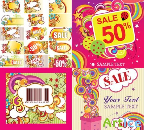 SS Discount sales trend vector material