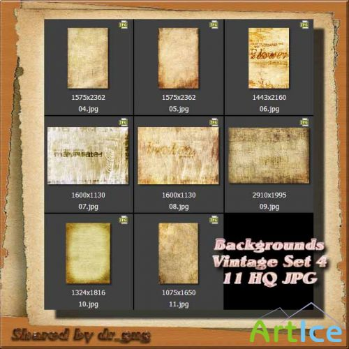 Cliparts / BackGrounds / Vintage Set 4