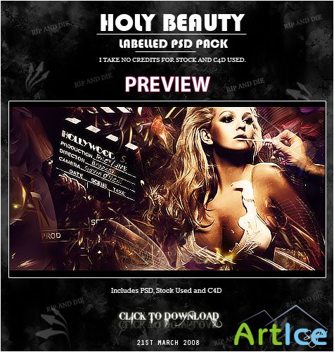 Holly Beauty PSD Pack