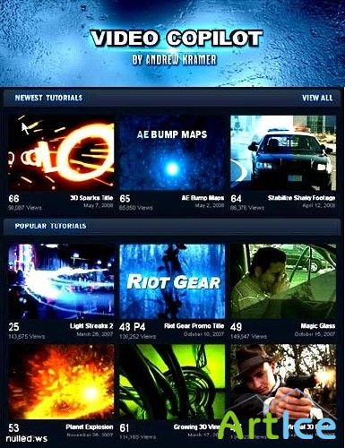Video Copilot - Andrew Kramer - 1-88 туториалы (2006 - 21.04.2009 )