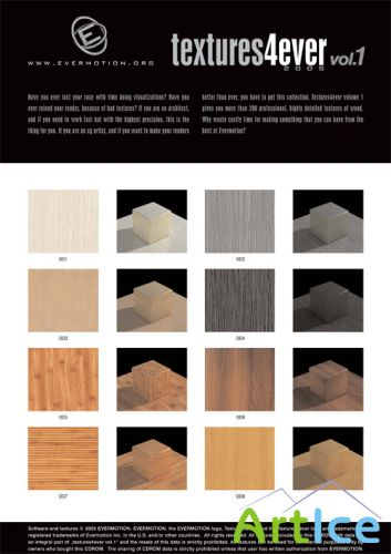Evermotion Textures4ever Vol. 1 - Wood Textures