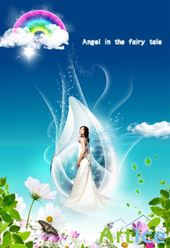 Angel in the fairy tale