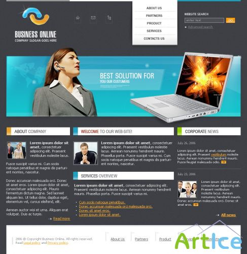 DesignLoad flash website template 4863