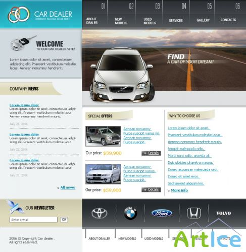DesignLoad flash website template 5611