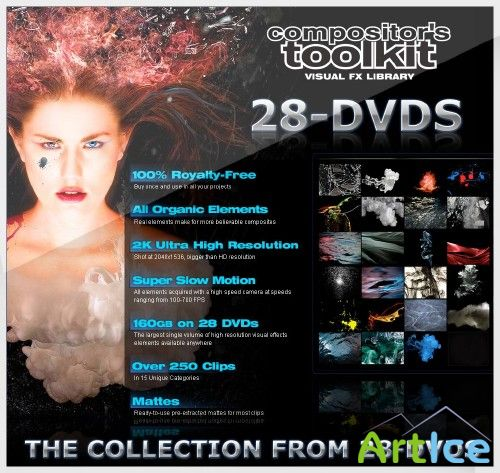 Сборник Digital Juice Compositors Toolkit VFX Library 28DVDs