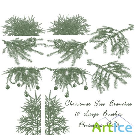 Christmas Tree Branch Brushes