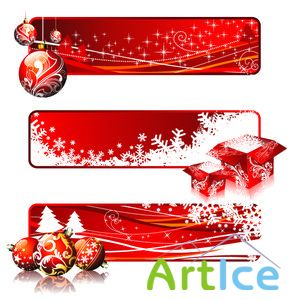 Vector banners - xmas