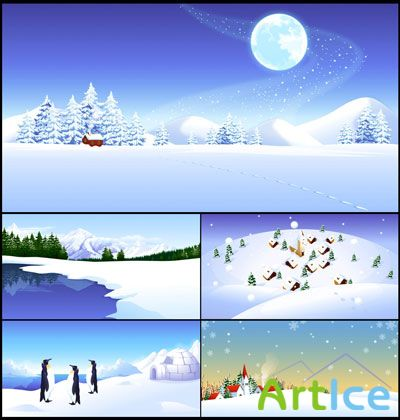 Vector winter banners