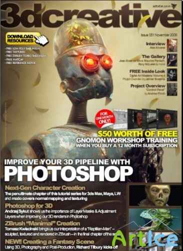 3D Creative Issue 51 November 2009