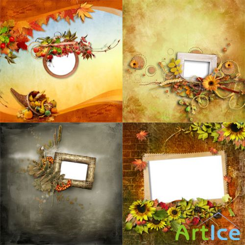 5 Quick Pages and frame the autumn theme