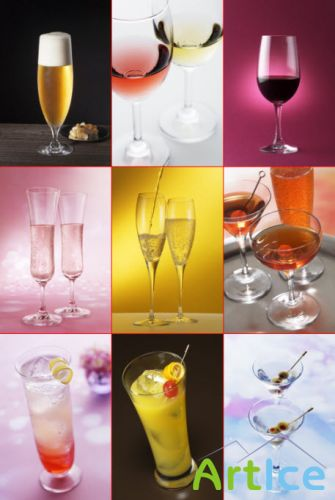 Clipart – Soft drinks & alcohol beverages
