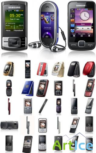 Clipart – Mobile telephones