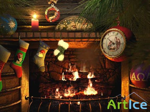 Fireside Christmas 3D Screensaver 1.0.0.7