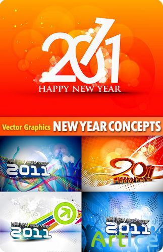 Stock Vector - New Year 2011 Concepts