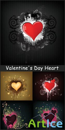 Valentine's Day Heart  - Stock Vectors