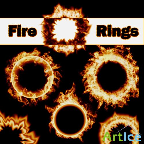 6 Fire Ring Brushes