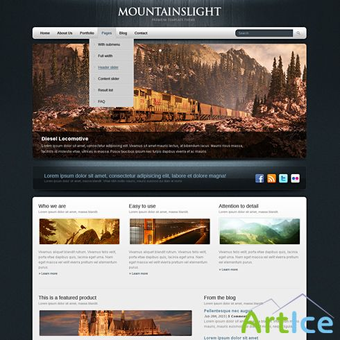 Dynamic CSS Templates - Bluewood