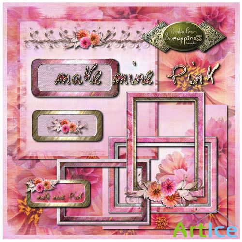 Scrap-set - Make Mine Pink