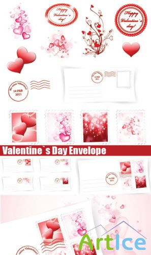 Stock Vectors - Valentine`s Day Envelope