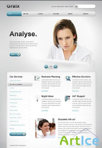 Graix Business Website Free Template