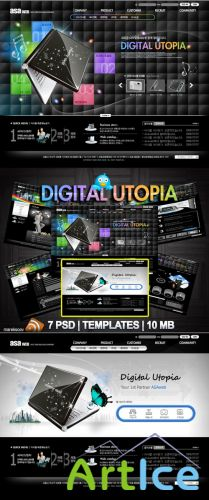 Digital Templates PSD Nr.160