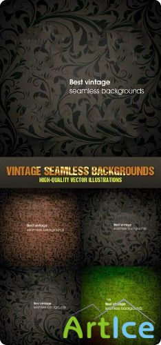 Stock vector - Vintage Seamless Backgrounds | Винтажный фон