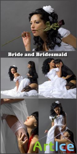 Bride and Bridesmaid - Stock Photos