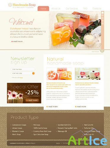 Soap Handmade Website Free Template