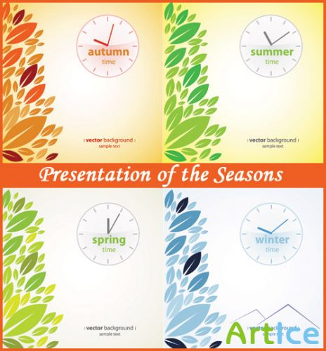 Presentation of the Seasons - Stock Vectors