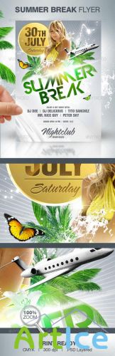 Summer Break Party Flyer - GraphicRiver