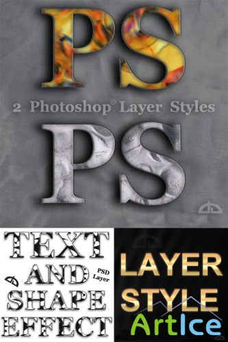 Colorful Photoshop Styles for Text