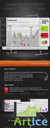 Graphicriver Graphic Charts Elements II | Элементы графиков 2