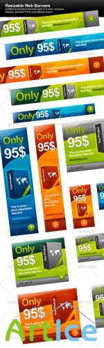 Resizable Web Banners - GraphicRiver