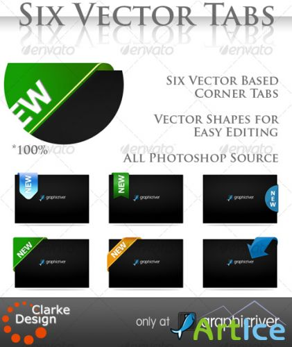 Vector corner tabs - GraphicRiver