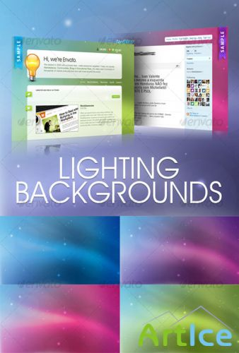 Lighting backgrounds - GraphicRiver