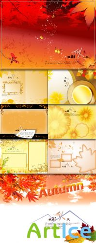 Art photo template my fall Autumn