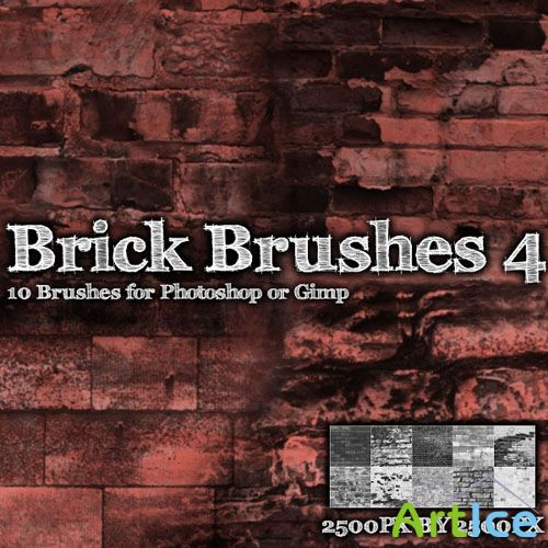 Brick Brush Pack for Photoshop or Gimp (Part 4)