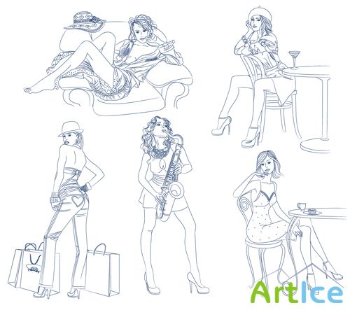 Girls Vector