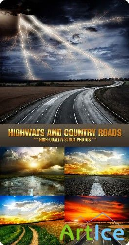Stock Photo - Highways and Country Roads | Шоссе и дороги