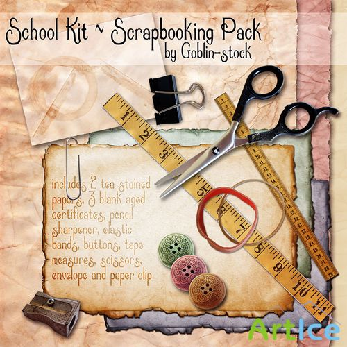 Scrap-kit - School Pack by Goblin-stock