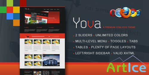 BuyStockDesign - Yova | A Premium HTML/CSS / With Two Sliders.Piecemaker/Nivo - RiP