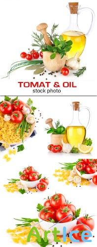 Stock photo - Tomat & oil | Помидоры и масло