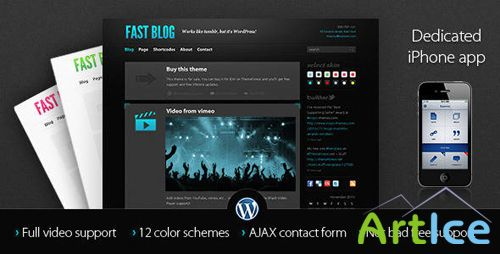 Themeforest - Wordpress - Fast Blog v1.3