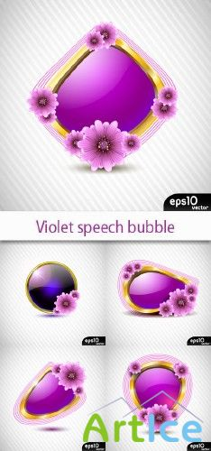 Violet speech bubble